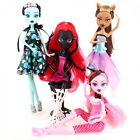 Monster High Doll Lot 4 Dolls Set Draculaura Lagoona Wolf Mattel Clothes as Gift