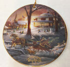 """Terry Redlin Ornament Racing Home Design Porcelain Hadley Collection 3 3/4"""""""