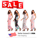 Women's Floral Long Maxi Dress Summer Evening Party Beach Full Length Sundress
