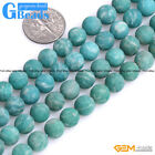 Natural Green Russian Amazonite Gemstone Frost Round Jewelry Making Beads 15""