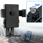 360° Car Carbon Fiber Air Vent Cradle Mount Holder Stand for iPhone X Samsung S9