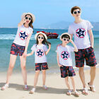Summer family cotton T shirt + Shorts 2pcs/Sets family outfits clothes camouflag
