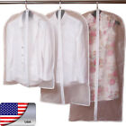 US 2PC Clear Clothes Overcoat Suit Cover Bags Dustproof Storage Bags Practical