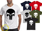 PUNISHER skull T shirt marvel comic Bodybuilding workout CrossFit GYM Tshirt