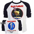 IRON MAIDEN,The Beast on the Road 82-83 Baseball Shirt, T-653Blk,