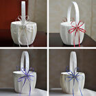 Внешний вид - New Bridal Wedding Flower Girl Basket Bowknot Rhinestone Lace Decor Satin/Burlap