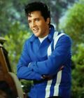 MENS ELVIS PRESLEY SPEEDWAY RED AND BLUE SLIM FIT COTTON MOTORCYCLE JACKET