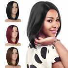 Fashion Synthetic Short Bob Hair Ombre Straight Wig Side Part Women Wigs