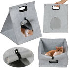 Collapsible Gray Pet Carrier Handbag Portable Cat Dog Comfort Bag Travel Hiking