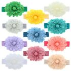 Внешний вид - Cute Baby Headband with Jumbo Fresh Flower Soft Stretchy & Pretty Great Color