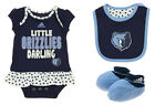 Adidas NBA Infant Memphis Grizzlies 3 Piece Creeper, Bib and Booty Set, Navy