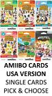 ANIMAL CROSSING SERIES 1 2 3 4 WELCOME MARIO SPORTS SUPERSTARS AMIIBO CARDS PICK