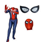 NEW Spider-Man Jumpsuit Game PS4 Insomniac Suit Zentai Halloween Cosplay Costume