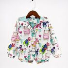 Baby Girls Jacket Coats Cartoon Print Hooded Girl Jackets Fashion Clothing Coats