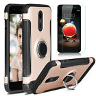 For LG Aristo 2 Plus/Tribute Dynasty Phone Case With Ring Stand+Screen Protector