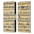 HEAD CASE DESIGNS MUSIC SHEETS LEATHER BOOK WALLET CASE COVER FOR HTC PHONES 1