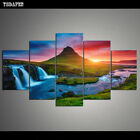 Wall Art Canvas Prints Pictures 5 Pieces Beautiful Iceland Waterfall Paintings