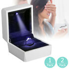 Kyпить Diamond Ring Box White LED Light Velvet Jewelry Gift Wedding Proposal Engagement на еВаy.соm