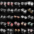 NEW Superhero Cufflinks Mens Wedding Novelty Super Hero Cuff Links Fashion Gift $4.29 USD on eBay
