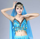 Women Belly Dance Sequin Sexy Beaded Tassel Coin Bollywood Belly Dance Top Bra
