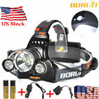 BORUiT 16500 Lumen Headlamp CREE 3x L2 LED Headlight 18650 Battery Light Charger