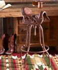 Adjustable Cast Iron Saddle Bar Stool, Country Western Style Decor Up To 200 lbs