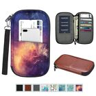 Travel Wallet Passport Holder RFID Blocking Leather Bag Case Cover w/Hand Strap