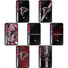 OFFICIAL NFL ATLANTA FALCONS LOGO BLACK HYBRID GLASS BACK CASE FOR iPHONE PHONES