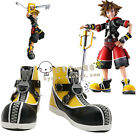 Kingdom Hearts Sora Yellow Shoes Cosplay Costume Shoes Boots Custom Made