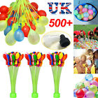 111/333/555pcs Fast Fill Magic Water Balloons Bombs Self Tying Bunch Summer Toys