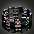 Black Hematite Magnetic Weight Loss Pain Relief Therapy Health Bracelet New UK