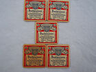 Vintage Beer Bar Coasters ~ BUDWEISER Beechwood Aged ~ It's Worth I t~ Lot Of 5