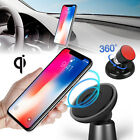 Qi Wireless Car Charger 360 Degree Mount Holder for iPhone X 8 Samsung S9 Note 8