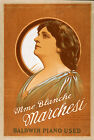 Photo Printed Old Poster: Stage Theatre Flyer People Stars Mme Blance Marchesi 0