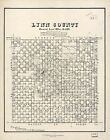 Poster Print Antique American Cities Towns States Map Lynn County Texas
