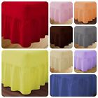 Polycotton Luxury Fitted Valance Bed Sheet Plain Dyed Premium Quality All Sizes