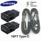 OEM Samsung Galaxy S9 S9 plus Note9 S8 Wall Charger Adapter 4/6/10FT USB-C Cable