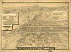 Poster Print Antique American Cities Towns States Map Colorado Springs