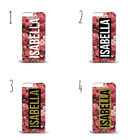 Personalised Initials Name Gold Glitter Pink Roses b49 phone case iPhone Samsung