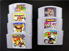 For 64 Game Party Smash Bros Video Cartridge Console Card US