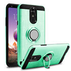 For LG Stylo 4 / 4 Plus Shockproof Hybrid Phone Case With Ring Kickstand Holder