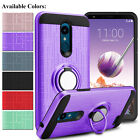 For LG Stylo 5/4/4 Plus Shockproof Hybrid Phone Case With Ring Kickstand Holder