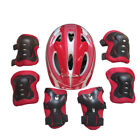 US Boy Girls 7PCS Skating Bike Protective Gear Safety Helmet Knee Elbow Pad Set