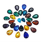 Lot of 40 Multi-colors Glass Water Drop Shaped Rhinestones Nial Art Crafts Decor