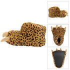 Dunlop Womens Trina Leopard Glitter Claw Slippers Ladies Faux Fur Monster Shoes