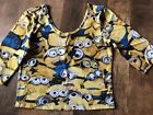 Dispicable Me Minion Made Women's Juniors Size L 3/4 Length Sleeve Shirt