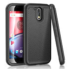 For Motorola Moto G4 / G4 Plus Gen Hybrid Rugged Rubber Shockproof Impact Case