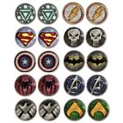 Superhero Symbol Marvel DC Silver Golden Plated Woman Stud Earring Jewelry gift image