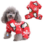 TAONMEISU Pet Dog Puppy Christmas Pajamas Snowflake Penguin Warm Jumpsuit Outfit