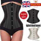 UK Steel Boned Lace-Up Underbust Waist Trainer Corset Body Cincher Shaper 6 Plus